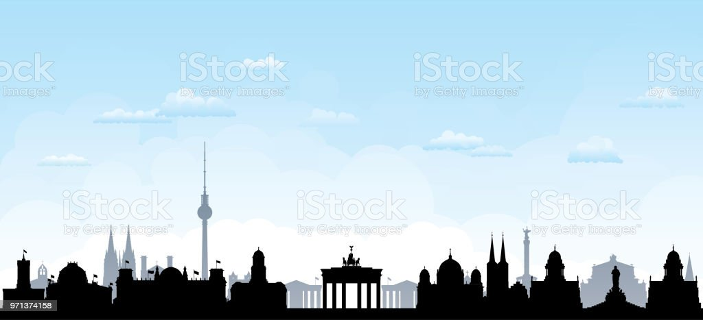 Berlin (All Buildings Are Complete and Moveable) vector art illustration