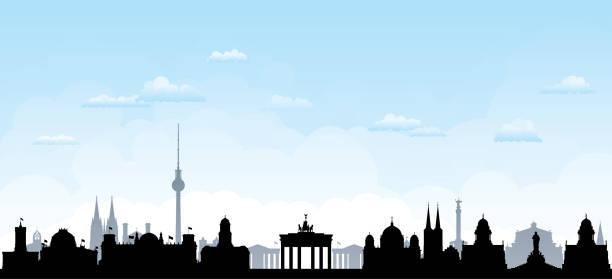 베를린 (모든 건물은 완전 하 고 이동) - 베를린 stock illustrations