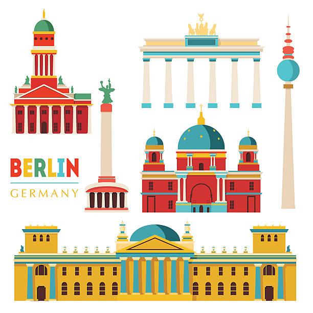 베를린. 벡터 일러스트레이션 - 베를린 stock illustrations