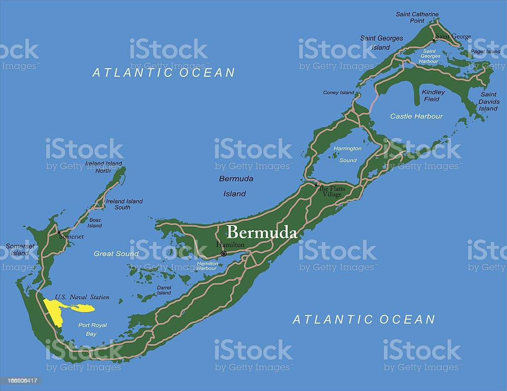 Bermuda map royalty-free bermuda map stock vector art & more images of atlantic ocean