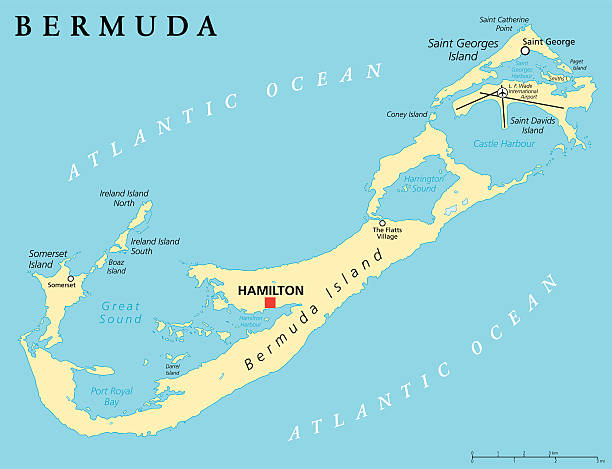 Royalty Free Bermuda Map Clip Art, Vector Images & Illustrations ...