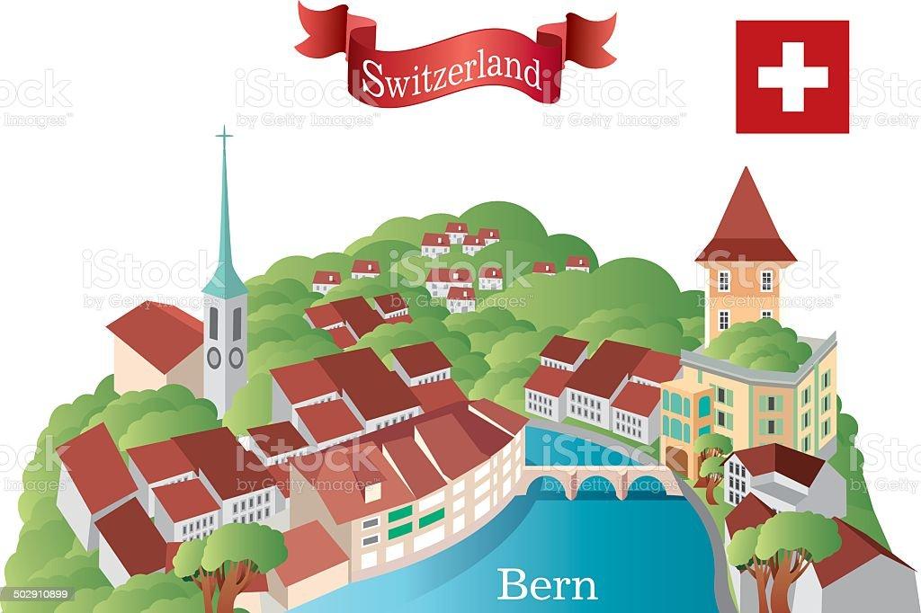 Bern vector art illustration