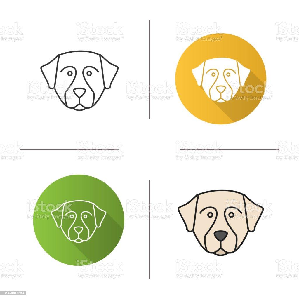 Bernese dog icon vector art illustration