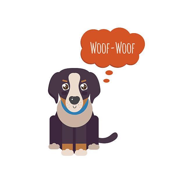 Bernese Mountain Dog puppy vector art illustration