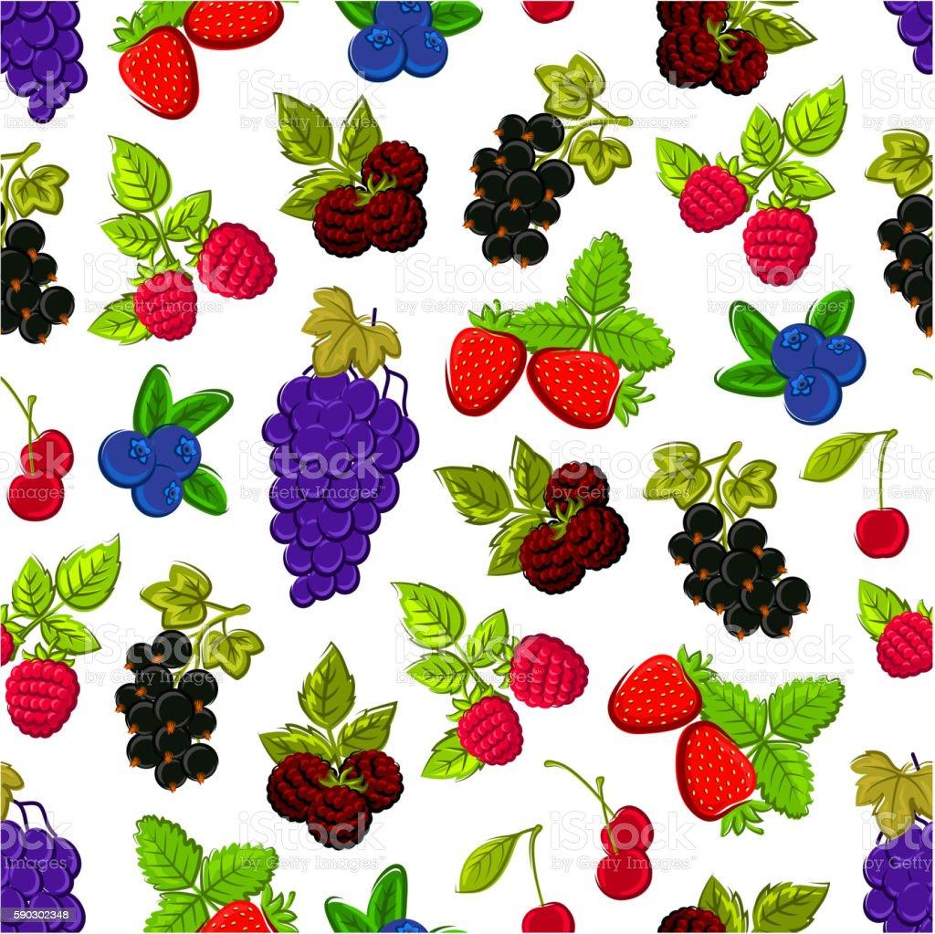 Berries and fruits seamless background royaltyfri berries and fruits seamless background-vektorgrafik och fler bilder på bildbakgrund