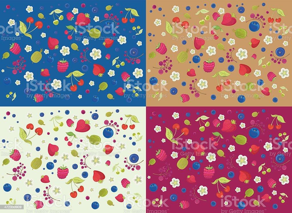 Berries Background Set royalty-free stock vector art