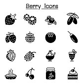 Berries icon set vector illustration graphic design