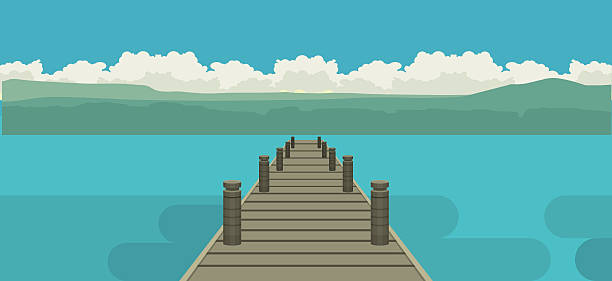Best Fishing Dock Illustrations, Royalty-Free Vector ...