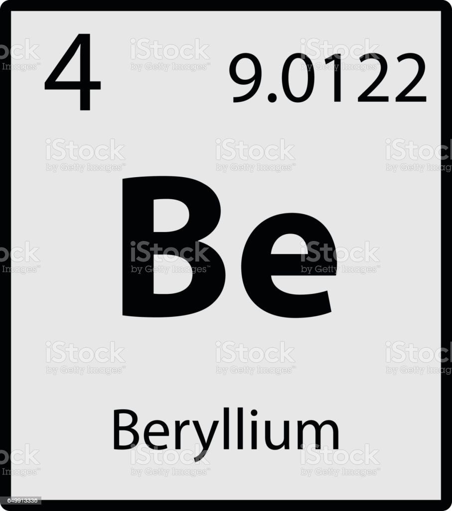 Beryllium periodic table element gray icon on white background beryllium periodic table element gray icon on white background vector royalty free stock vector art gamestrikefo Image collections