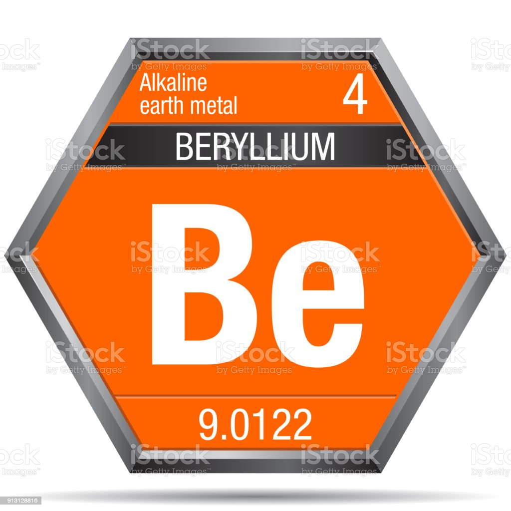Beryllium symbol in the form of a hexagon with a metallic frame beryllium symbol in the form of a hexagon with a metallic frame element number 4 buycottarizona Image collections