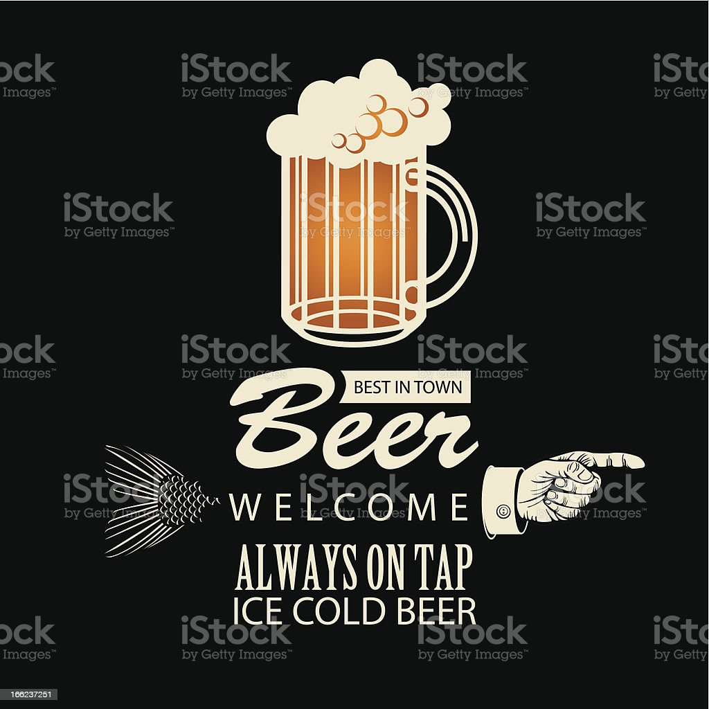 best beer in town royalty-free stock vector art
