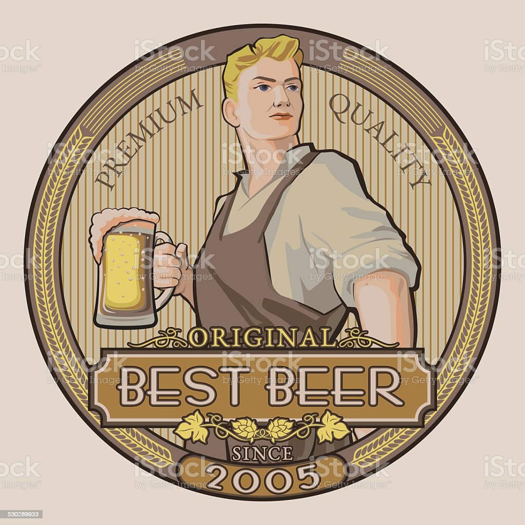 Best beer vector art illustration