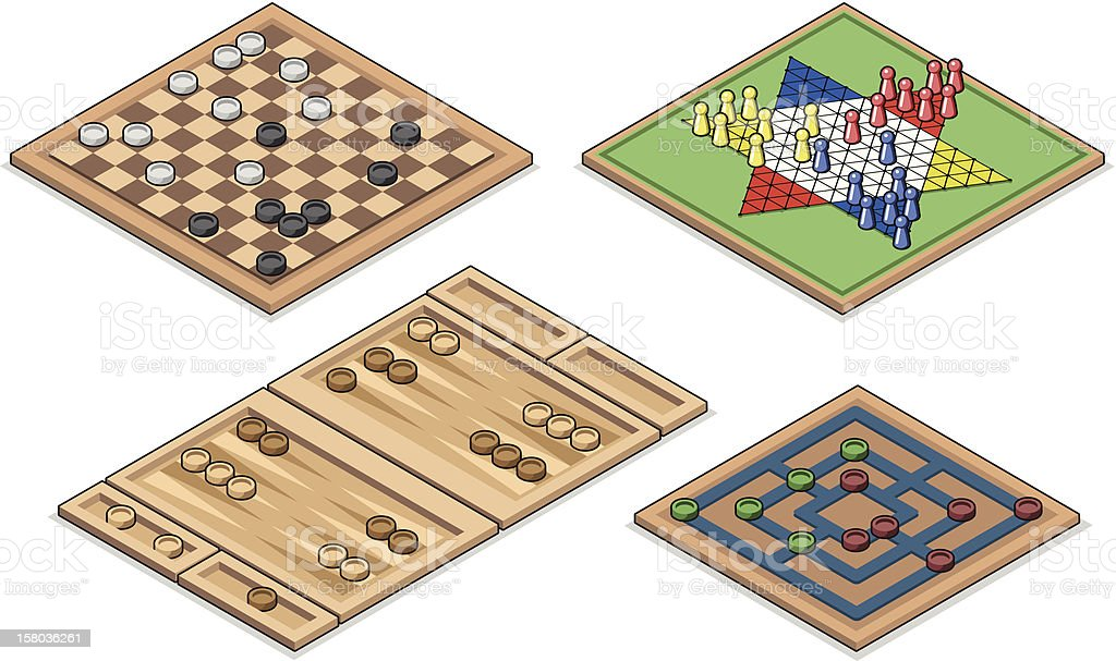 Best board games ever (vector illustration) vector art illustration