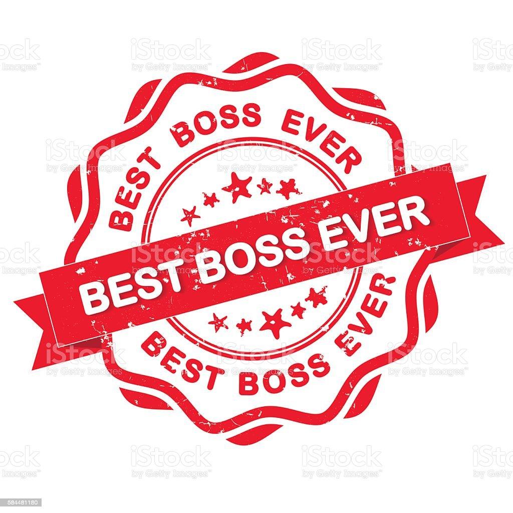 best boss ever grunge ribbon stock vector art more images of award