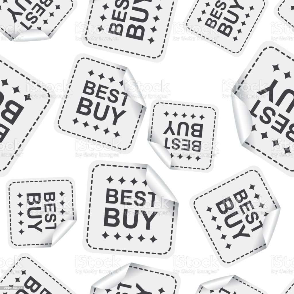 Best Buy Sticker Seamless Pattern Background Icon Business Flat