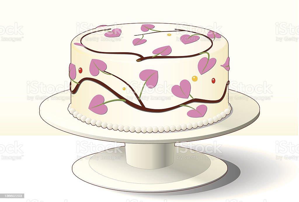 Die Besten Kuchen Mit Rosa Herz Dekoration Fur Valentinstag Stock