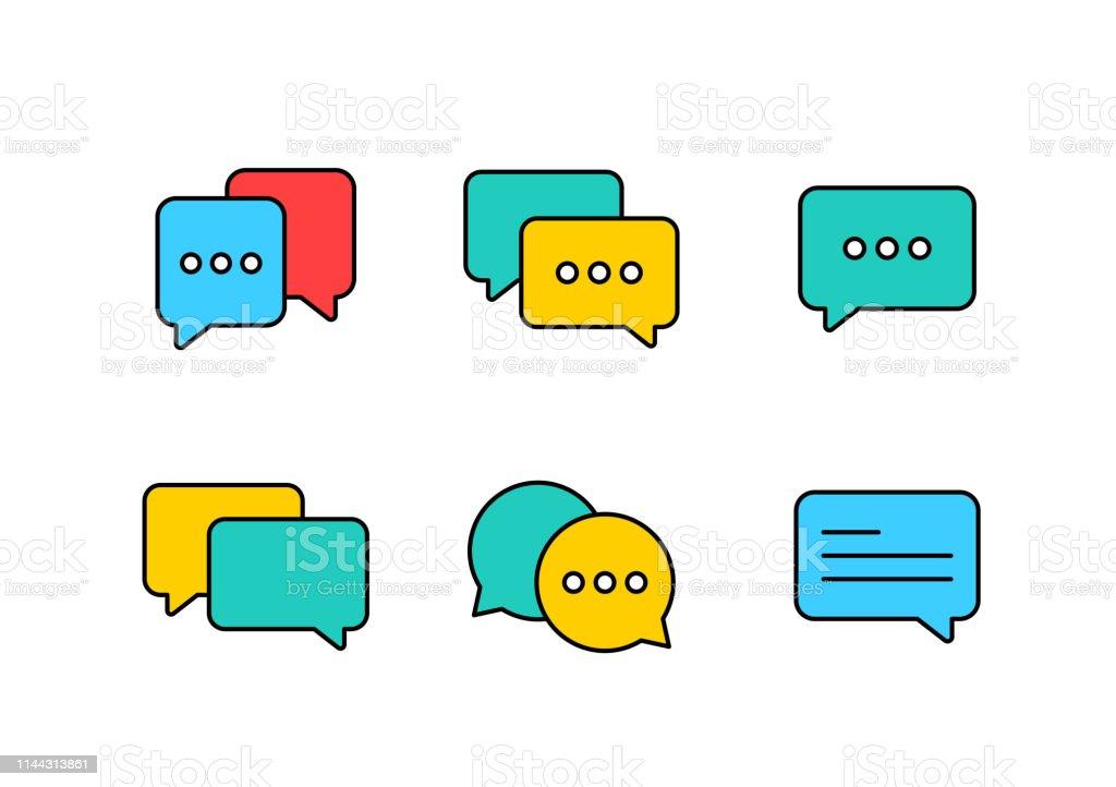 Best chat speech bubble set. Template of message bubbles chat boxes...