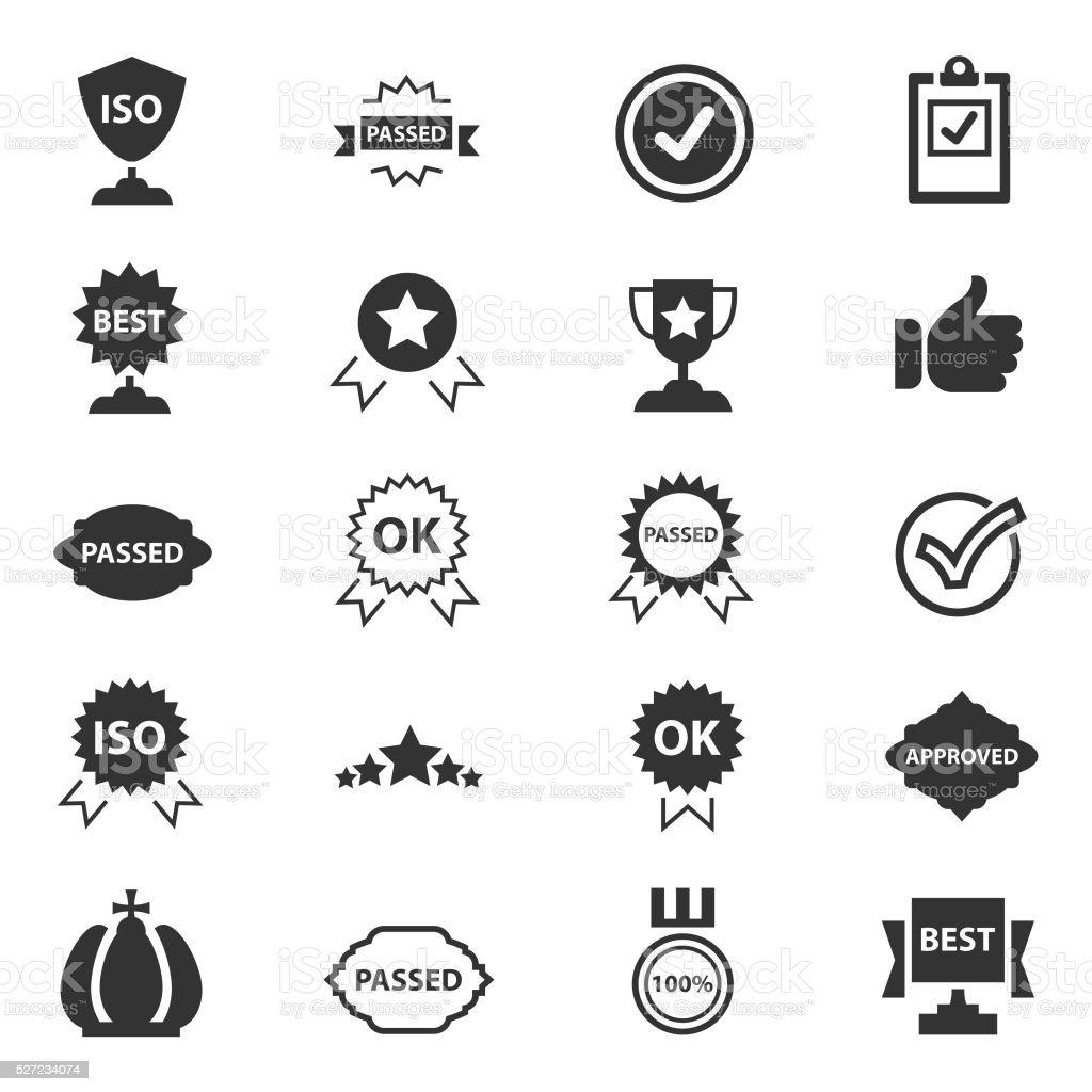 Scelta migliore icone - illustrazione arte vettoriale