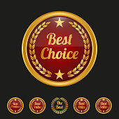 Best choice label on black background. Vector illustration