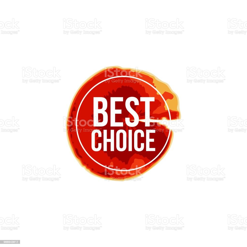 Best Choice Label Vector Template Design Stock Vector Art More
