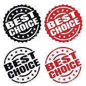 """""""BEST CHOICE"""" grunge rubber stamp."""