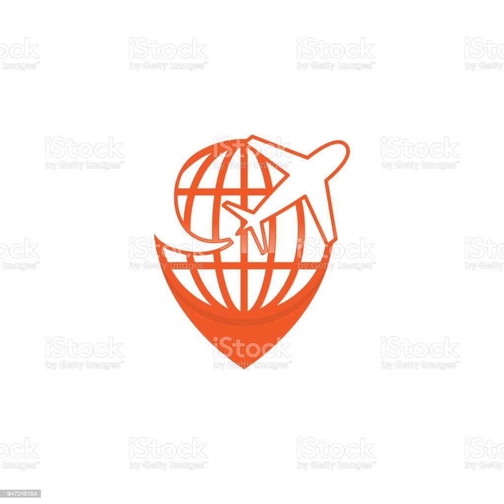 Best Creative Amazing Symbol Travel Agency Icon Design Idea With