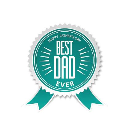 Best dad award ribbon rosette