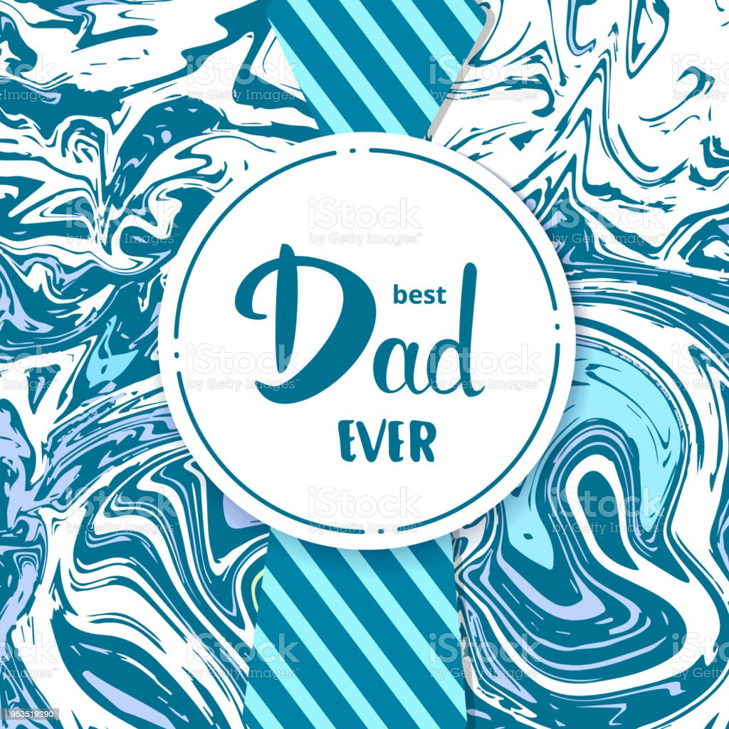 Best Dad Ever card quote. Vector Illustration. vector art illustration