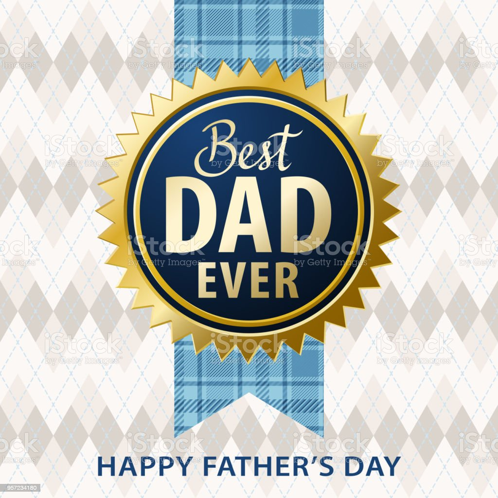Best Dad Ever vector art illustration