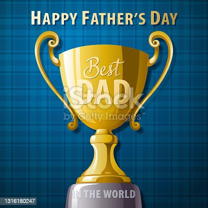 istock Best Dad Trophy 1316180247