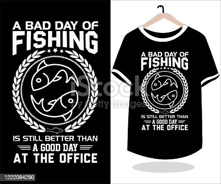 Best fishing T shirt design vector graphic element.