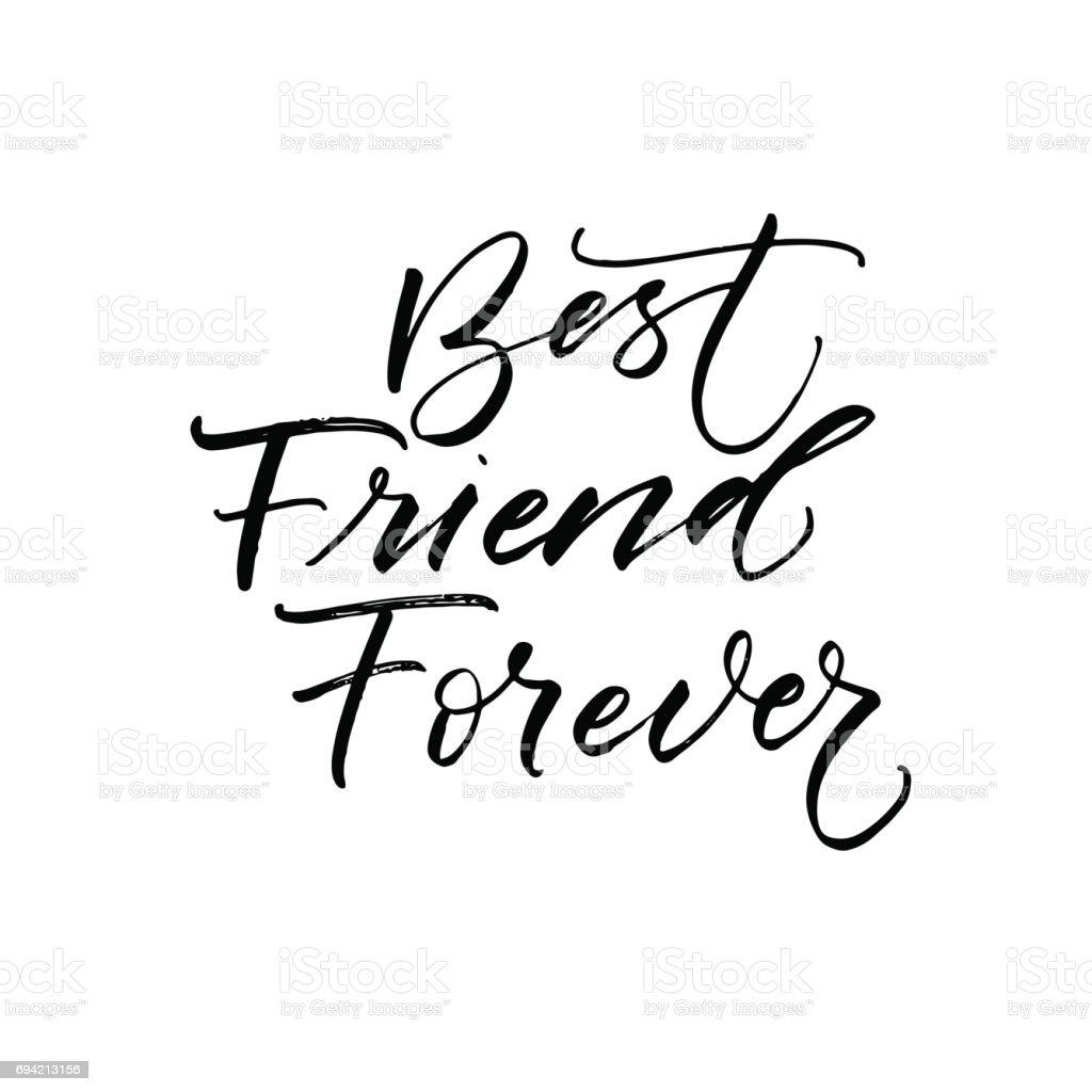 Best friend forever card. vector art illustration