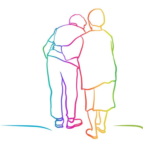 Bester Freund für ältere Regenbogen – Vektorgrafik