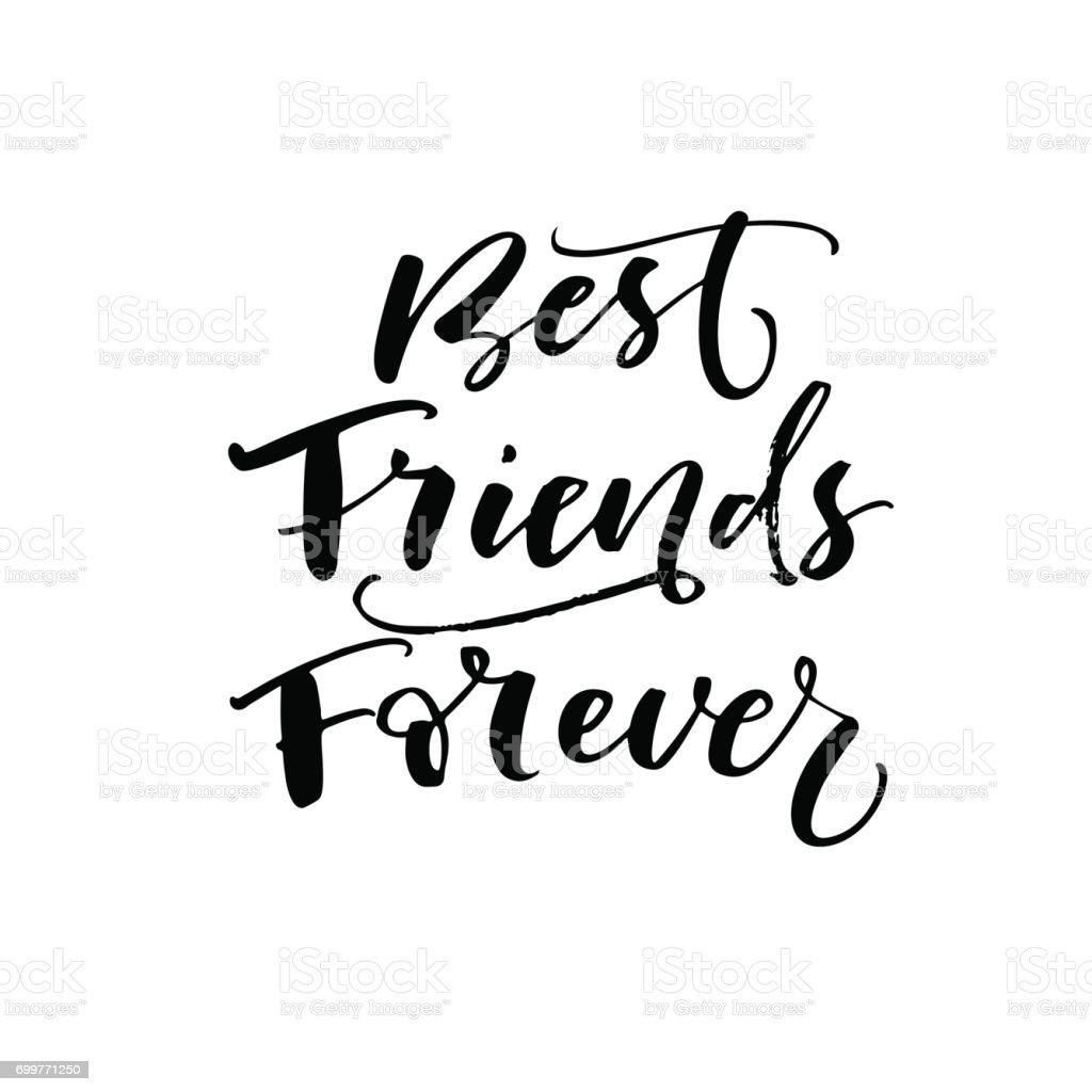 Best friend forever phrase. vector art illustration