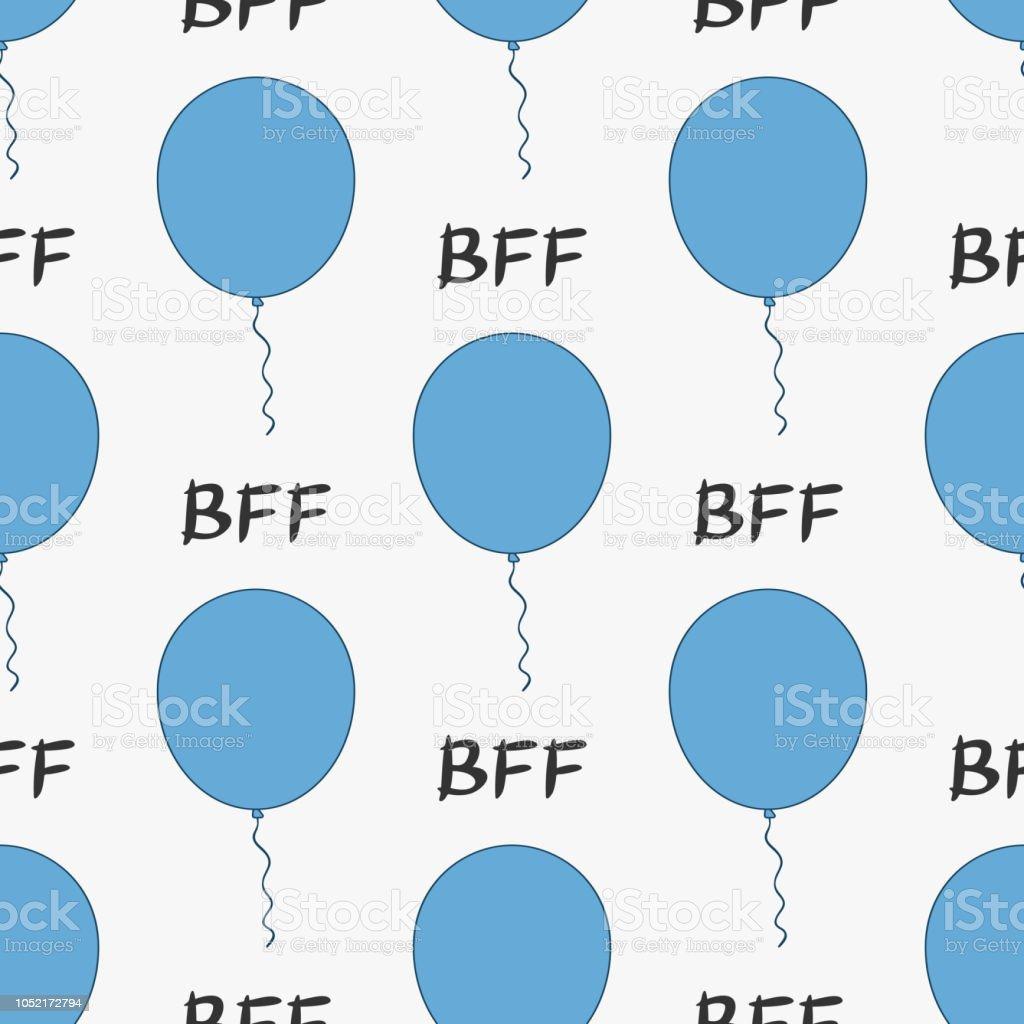 Best friends forever. Cute seamless pattern for children. vector art illustration
