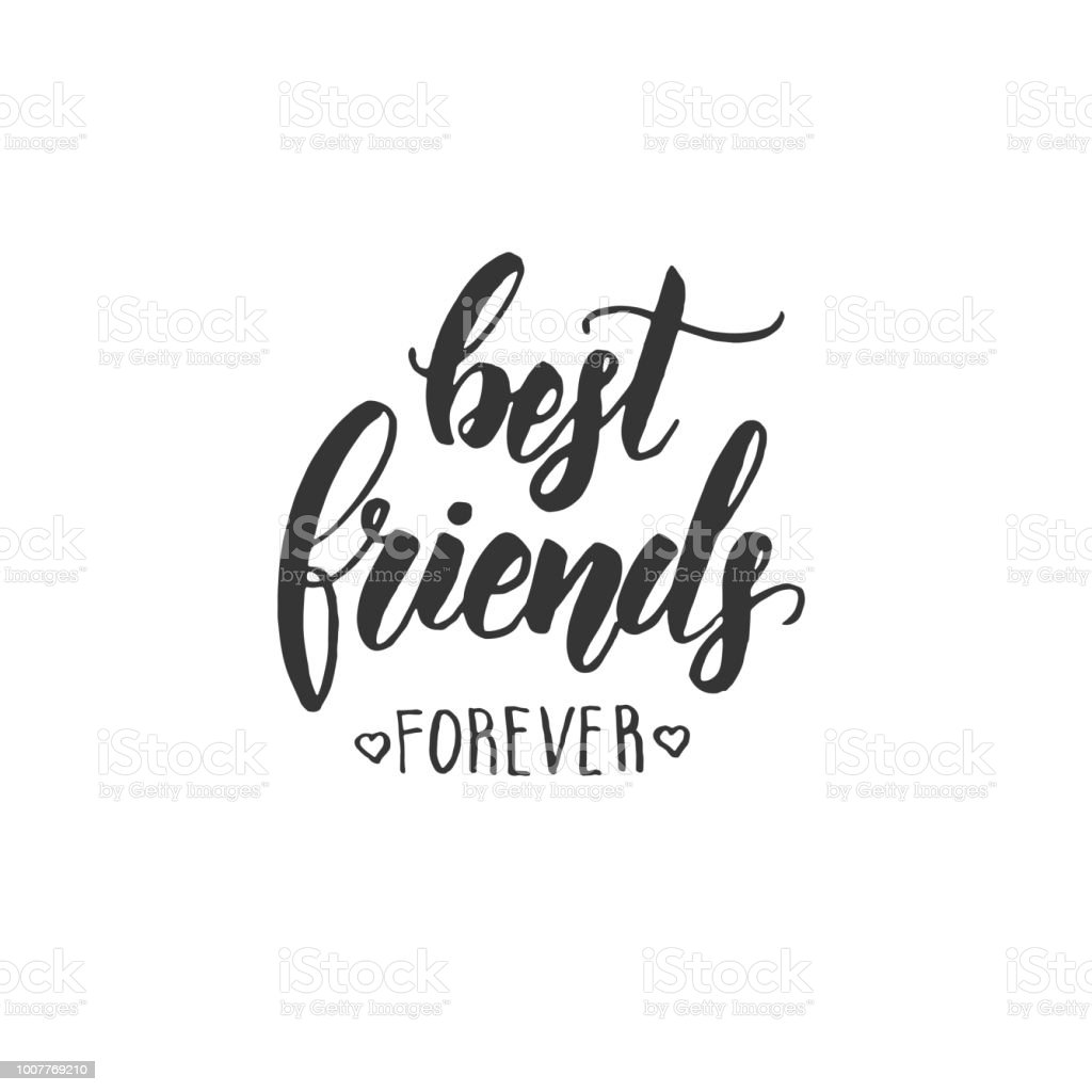 Best Friends Forever Friendship Day Lettering Calligraphy
