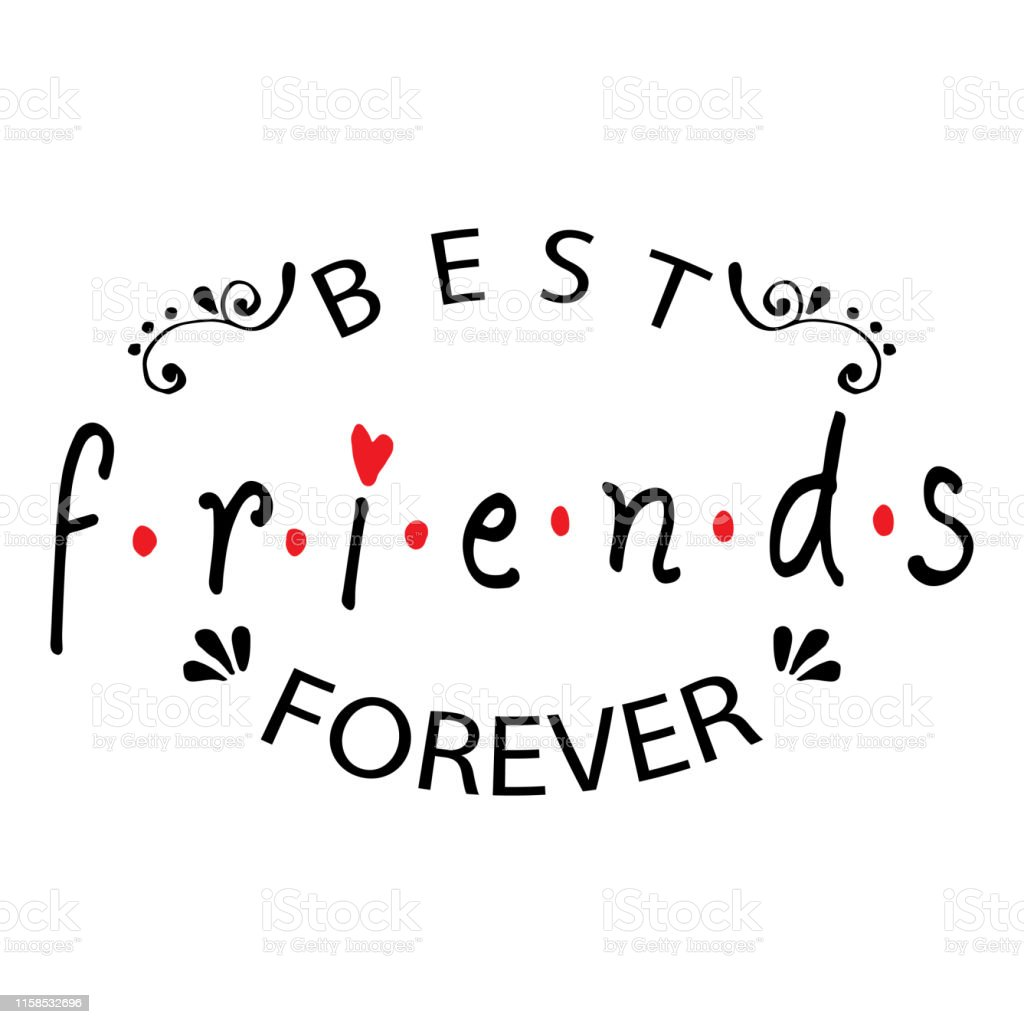 best friends forever friendship quote stock illustration