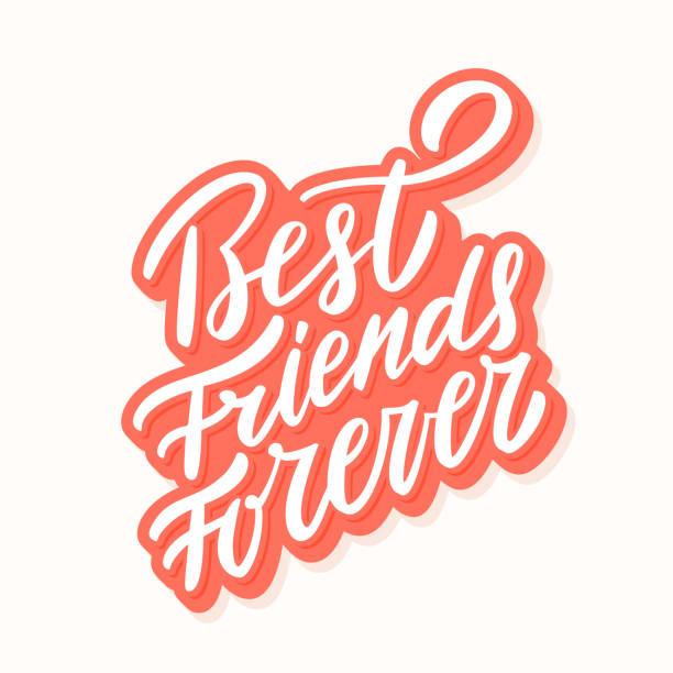 Best Friends Forever. Hand lettering. Best Friends Forever. Hand lettering. Vector hand drawn illustration. eternity stock illustrations