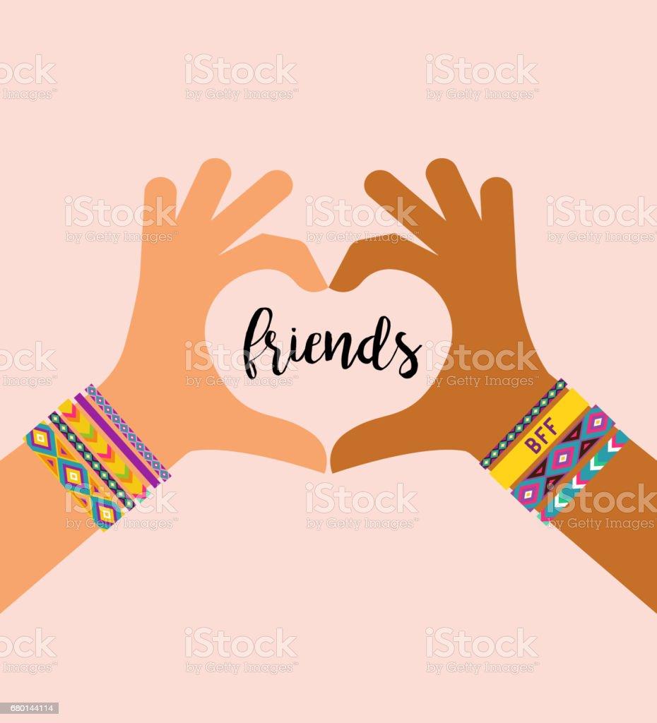 Best friends forever happy friendship day poster design banner best friends forever happy friendship day poster design banner greeting card royalty m4hsunfo Gallery