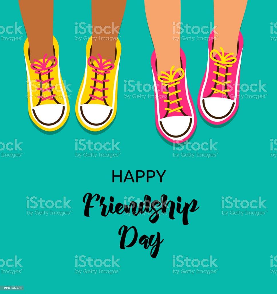 Best friends forever, Happy friendship day poster design, banner, greeting card vector art illustration