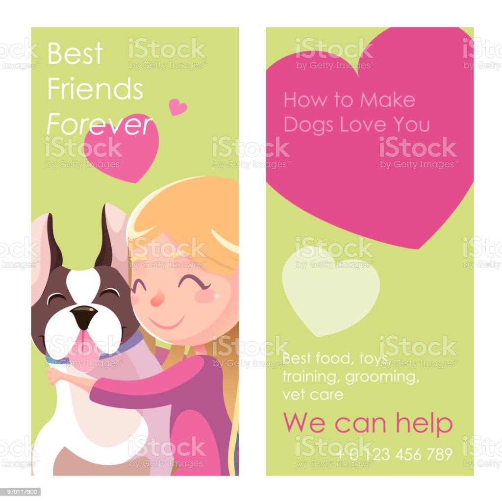 Best Friends Forever Illustration Friendship Concept Banner