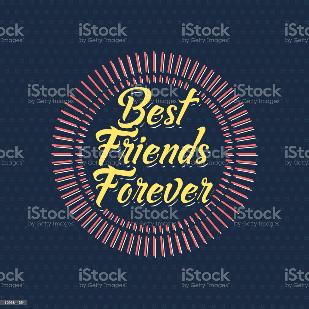 Best friends forever illustration, vector vector art illustration