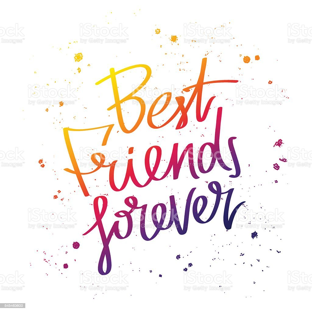 Best Friends Forever Trend Calligraphy Stock Vector Art More