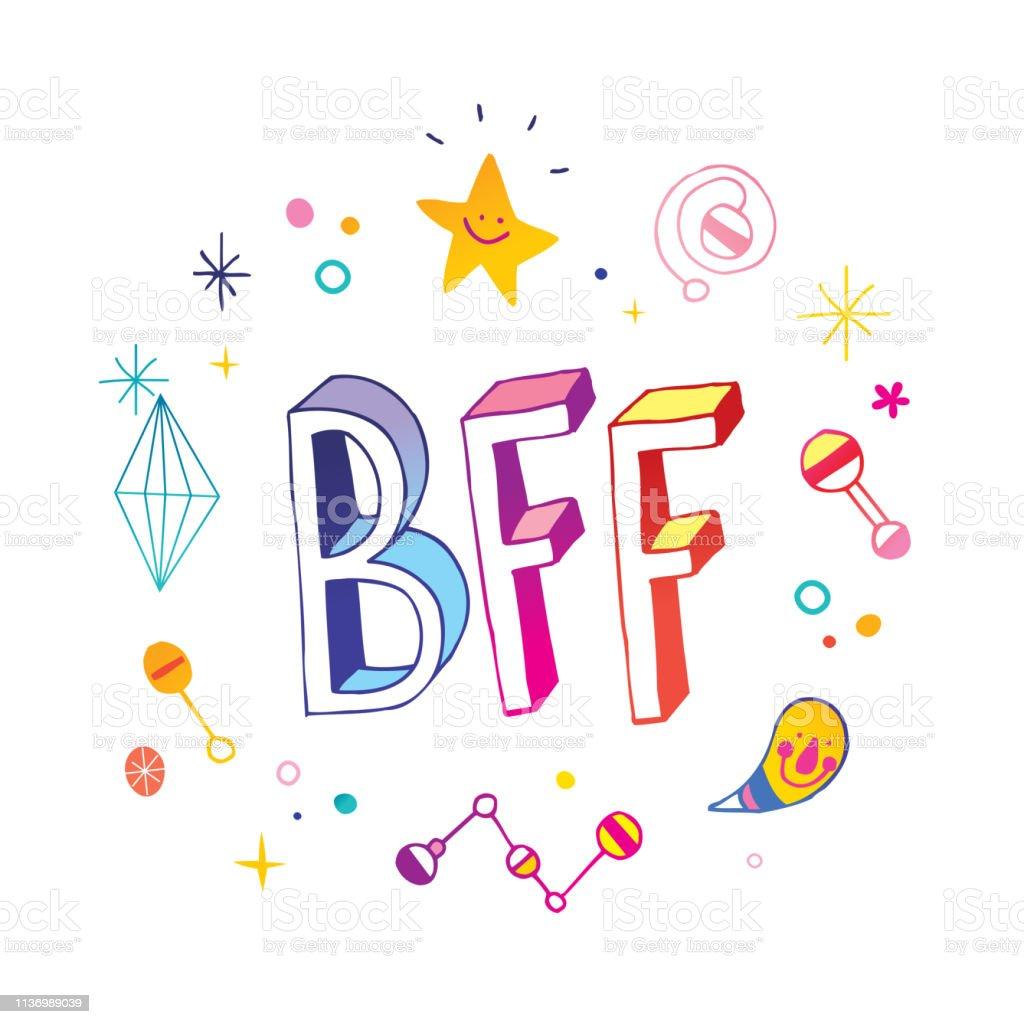 bff best friends forever stock illustration  download