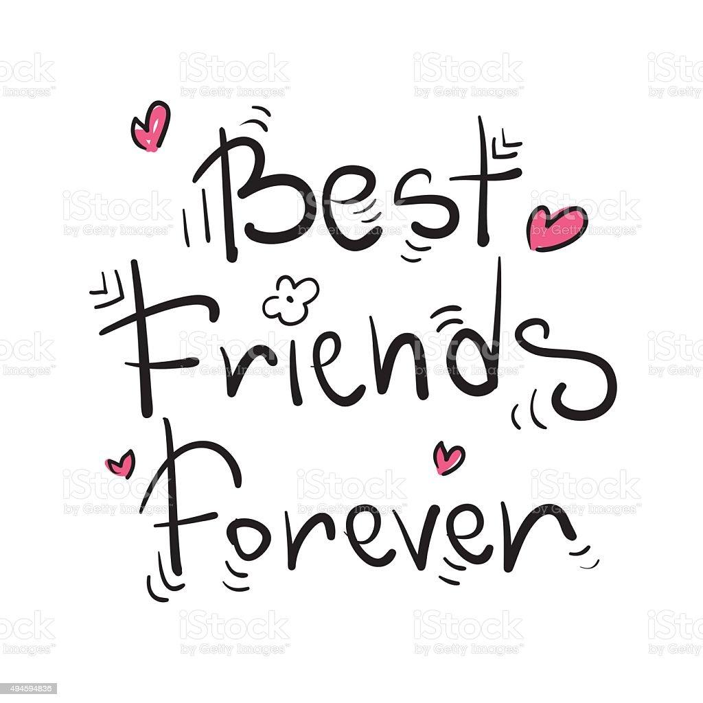 best friends forever stock illustration  download image