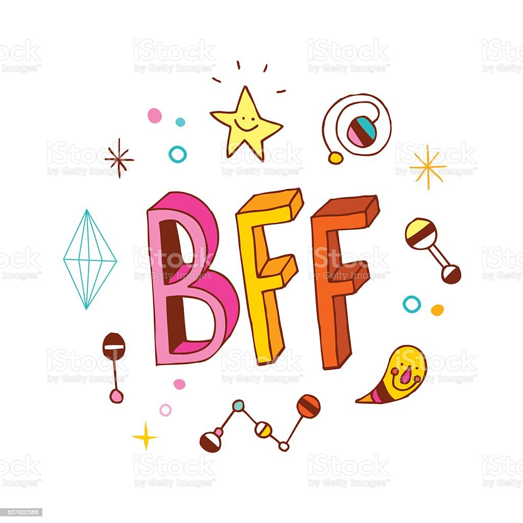 royalty free best friends forever clip art vector images rh istockphoto com happy birthday bff clipart bff clipart free