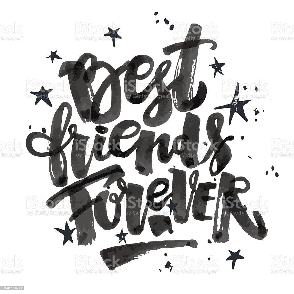 Best friends forever. vector art illustration