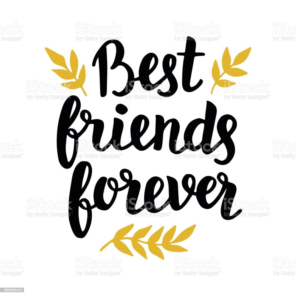 Best Friends Forever Stock Illustration - Download Image ...