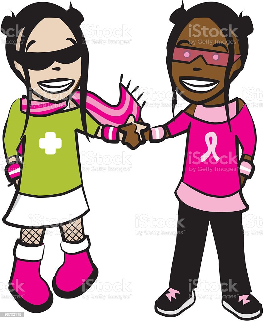 best friends [ sisterhood ] royalty-free best friends sisterhood stock vector art & more images of child