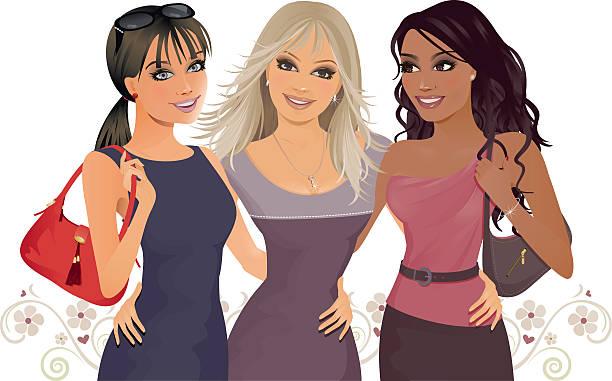 Best Friends vector art illustration